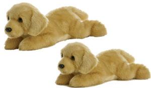 """Aurora World Flopsie Plush Goldie Labrador Dog, 12"""""""