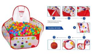Kuuqa Kids Ball Pit Ball Tent Toddler Ball Pit