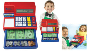 Learning Resources Pretend & Play Calculator Cash Register, 73 Piece