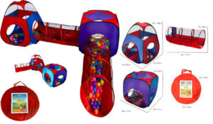 Playz 4pc Pop Up Children Play Tent