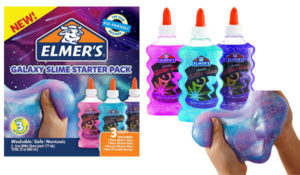 Elmer's Galaxy Slime Starter Kit with Purple, Pink & Blue Glitter Glue