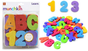36 Count Munchkin Letters and Numbers Bath Toys