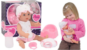 Melissa & Doug Mine to Love Annie 12-Inch Drink and Wet Poseable Baby Doll