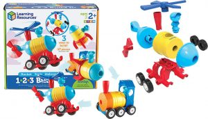 1-2-3 Build It Rocket Train Helicopter